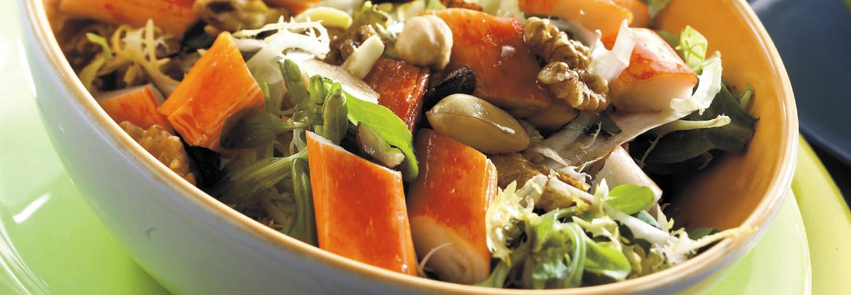 ensalada de krissia y frutos secos