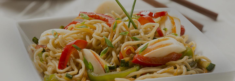 wok fideos chinos colas de océano Krissia