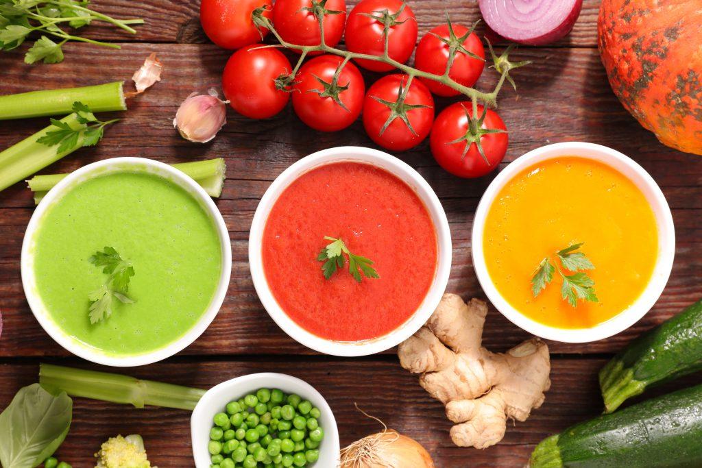 sopas y purés de verduras