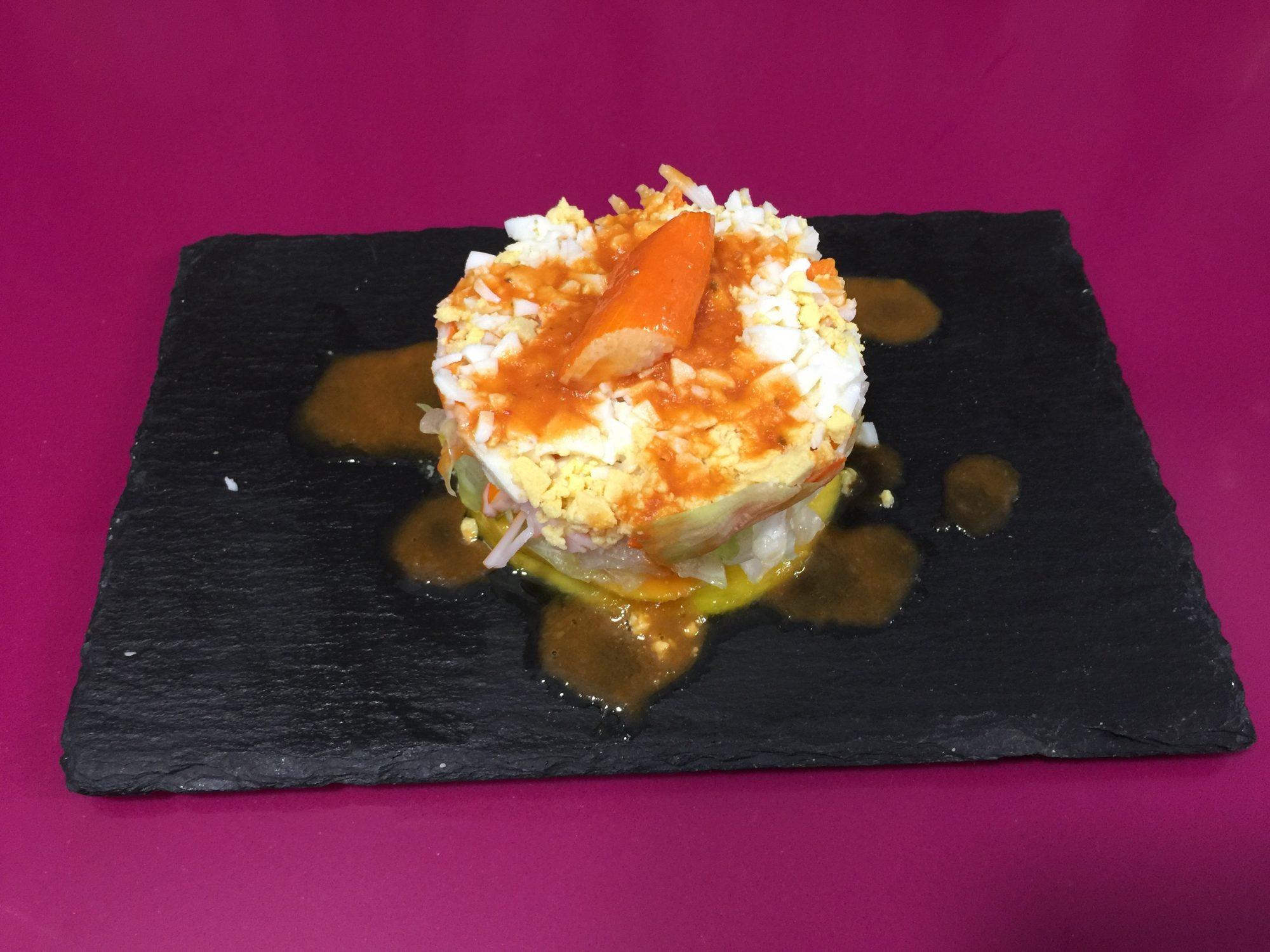 timbal de surimi y mango