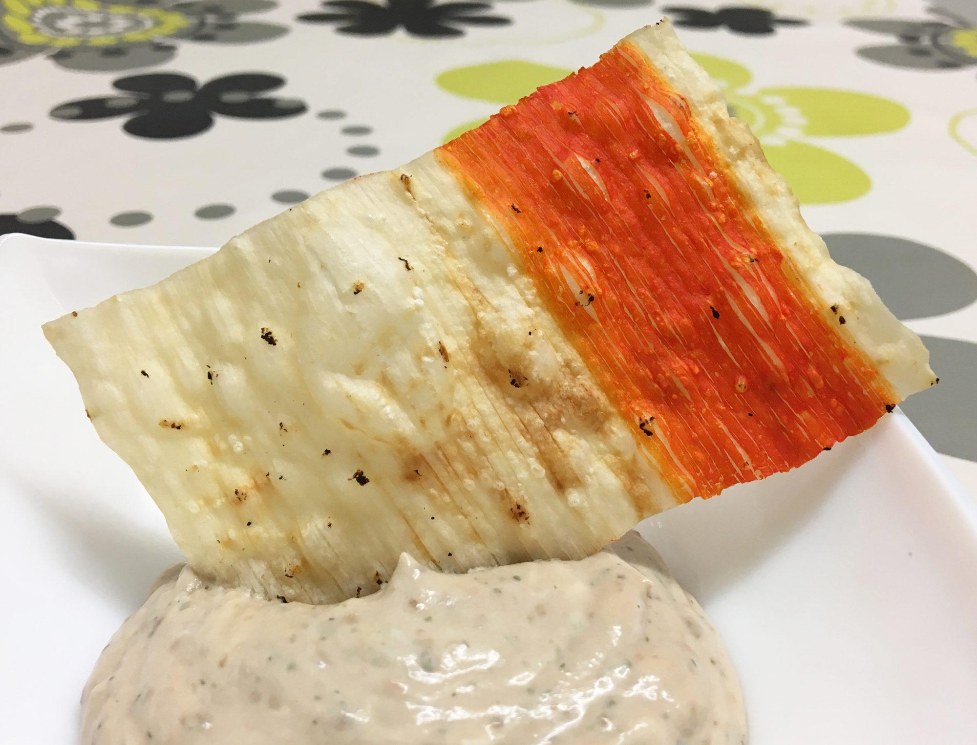Crujiente de cangrejo con paté de anchoas
